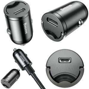 Baseus 30W TS Mini PPS Quick Car Charger + 1m 18W Type-C to Lightning Cable