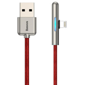 Baseus 2.4A/1.5A LED Iridescent Mobile Gamer USB Type-A to Lightning Cable