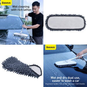 Baseus Compact All-in-One Flexible Car Mop Replacement Cloth (2 PCS) - Grey