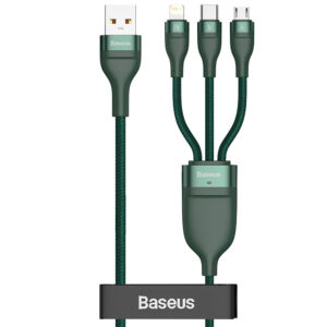 Baseus 5A - 1.2m 3in1 USB-A to Lightning + USB Type-C + MicroUSB Cable