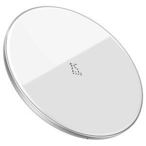 Baseus 15W Simple Wireless Charger with USB Type-C Port & 1m Cable
