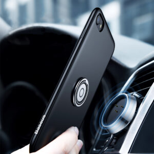 Baseus 1m - 1A Magnetic Wireless Charge Case for iPhone 7 & 8 - Black